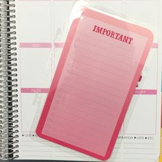 Pink Ombre Important To Do Laminated Dashboard Insert