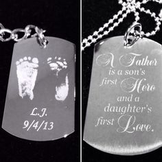 Take a  look at Just Great Engraving latest #gift4dad, #newdad, #babyfootprints, #newbaby, #newborn, #gift4him, #grandparentgift, #customgift, #personalizedgift