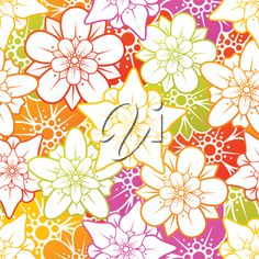 iCLIPART - Clip Art Illustration of a Floral Background #flowers #floral #clipart