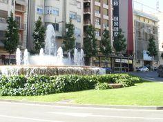 Fountain near albergue  in Leida