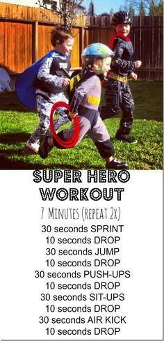 Super hero workout & kid friendly workout using gymboss interval timer