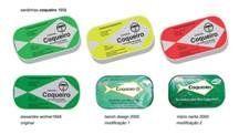 Criou também embalagens importantes que foram as feitas para as sardinhas Coqueiro,em 1958.