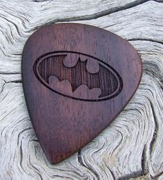 African Leadwood Guitar Pick  Handmade Laser by NuevoWoodcrafts, $21.95