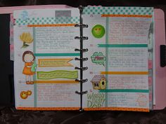 Tracys Treasures: My completed week in my day planner for week #24