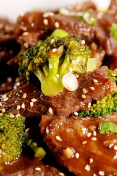 Slow-Cooker Beef & Broccoli     Swap the soy sauce for Tamari, and use arrowroot powder instead of corn starch!
