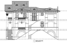 152-1008: Home Plan Right Elevation