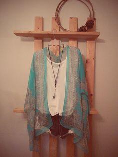 Bohemian kimono   70's paisley pattern  by LittleModernHippie, $39.99