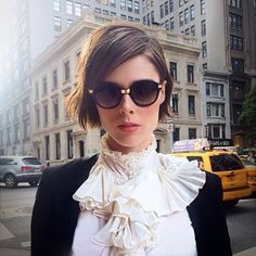 Coco Rocha short hairstyle