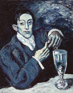 Pablo Picasso (1881-1973). Portrait de Angel Fernández de Soto, 1903, oil on canvas, 27 7/8 x 21 3/4 in. (69.5 x 55.2 cm).