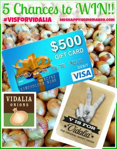 5 Chances to #WIN $500 dollars on a Visa gift card! ENTER NOW! #giveaway