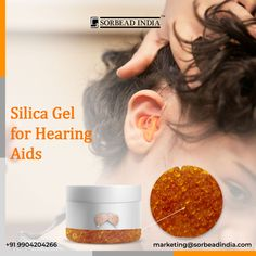 Sorbead India is a manufacturer of silica gel beads. Orange coloured silica gel beads are used in Hearing aids. It is placed in the box of hearing aid to absorb moisture Contact Us: www.silicagel-desiccant.com marketing@sorbeadindia.com +91 9904204266 #sorbeadindia #silicagel #Silicagelmanufactere #hearingaids #orangebeads #moistureabsober #silicageldesiccants Silica Gel, Hearing Aids, Moisturizer, Abs, India, Marketing, Orange, Color, Moisturiser