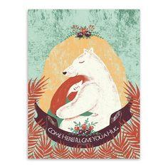 Triptych Kawaii Bear Rabbit Animal Love Hug Fairy Tale A4 Art Print Poster Wall Picture Canvas Painting Girl Room Decor No Frame