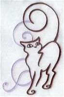 Machine Embroidery Designs at Embroidery Library! - A Art Nouveau Cat Design Pack - Sm