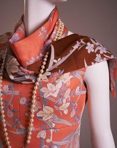 着物リメイク振袖からワンピースに。 : 着物ドレス・着物リメイク オーダーのポマル通信 Upcycle kimono