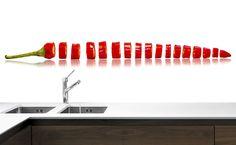 Panel szklany do kuchni PAPRYKA