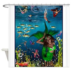 CafePress+–+Best+Seller+Merrow+Mermaid+Shower+Curtain+–+Decorative+Fabric+Shower+Curtain
