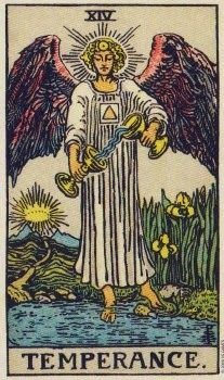 Tuesday's Tarot: TEMPERANCE (Pamela Colman Smith Commemorative Tarot) – Patience may be needed today. You might not be in a position to make things happen right now. You need to wait until the right time comes before you take action. Don't try to rush anything to a conclusion before it's ready.