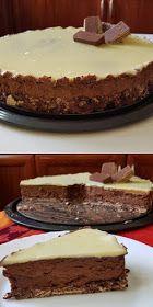 ΜΑΓΕΙΡΙΚΗ ΚΑΙ ΣΥΝΤΑΓΕΣ 2: Σοκολατένια τούρτα με γκοφρέτες!! Pudding Desserts, Trifle, Sweet Recipes, Tiramisu, Red Velvet, Cheesecake, Deserts, Food And Drink, Sweets