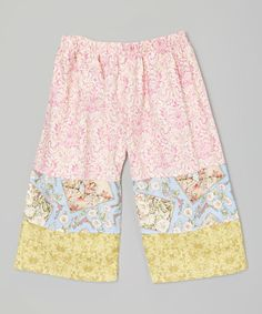 Loving this Pastel Pink Garden Fairy Boutique Pants - Toddler & Girls on #zulily! #zulilyfinds