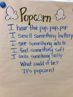 Rowdy in First Grade: Sensory Poetry