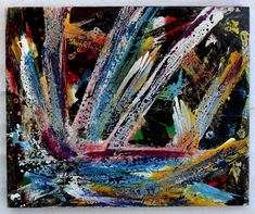 "G.A.Zanussi, ""life is... a special effect"", Arte contemporanea quadro 45 x 55, opera a tecnica mista su tela 2017"