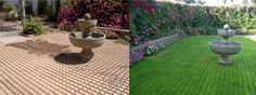 Drivable Grass® Permeable Pavers Project Gallery – Patios