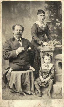 Eli Bowen was born in 1844 in Ohio, with the condition Phocomelia, or 'seal feet'. He had no legs, his feet protruding from his hips. He used his arms for walking and developed great upper body strength.   At age 13 he joined a traveling circus and was called, 'The Legless Acrobat'. Throughout his long career he worked for a number of dime museums and circuses, including P. T. Barnum's. At age 26, he married the 16 year-old, Mattie Haines and they had 4 boys.