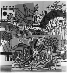 Fernand Léger dans ses ouvres, 1954. Robert Doisneau