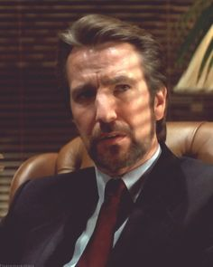 "1988 - Alan Rickman in his break-out film role as Hans Gruber in ""Die Hard."" He set the bar for all future ""villains""."
