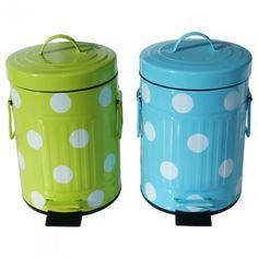 Lixeira de Metal Dots / Garbage can dots