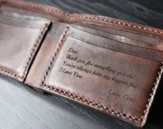 Men's Leather Wallet / Personalized Leather Wallet /