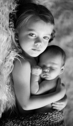 If Big brother with baby sister cute