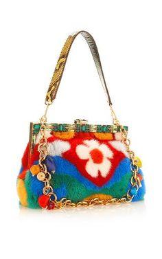 Multicolored Mink Vanda Shoulder Bag by DOLCE & GABBANA for Preorder on Moda Operandi