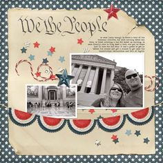 Layout created with {Washington DC} Digital Scrapbook Kit by Magical Scraps…