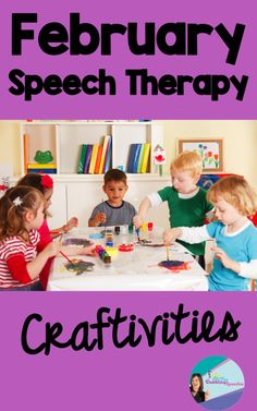 The Dabbling Speechie: February Speech Therapy Craftivities-fun winter and Valentine's Day themes! Pinned by SOS Inc. Resources. Follow all our boards at pinterest.com/sostherapy/ for therapy resources.