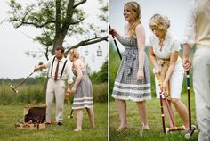 Croquet game for an Easter Wedding anyone?