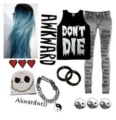 """""""."""" by antisocialnerd ❤ liked on Polyvore featuring PlayMe Jeans, Sober Is Sexy and KAOS"""