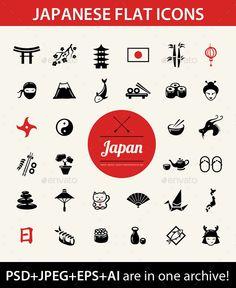 Japanese Icons Set