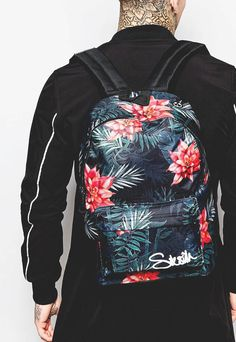 SIKSILK Floral Backpack #menswear #fashion #floral