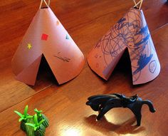 Preschool Crafts for Kids*: Native American Tipi (Teepee) Craft