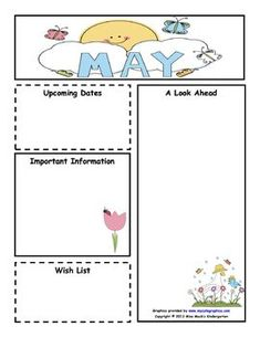 April newsletter for all grades teaching ideas pinterest for Free april newsletter template