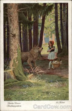 Rotkäppchen. Brüder Grimm. (Little Red Riding Hood, Brothers Grimm)
