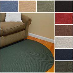 Rhody Rug Woolux Wool Ovall Braided Rug (2' x 3') (Scarlet), Red, Size 2' x 2'9