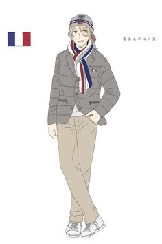 Francis in the French athletes' uniform from the Opening Ceremonies of the 2014 Sochi Winter Olympic Games - Art by toxicell.tumblr.com