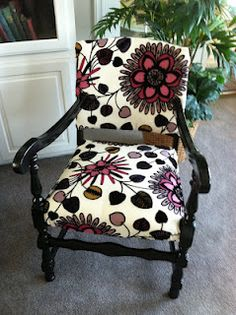 Recovered Chair by Mom!