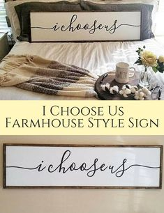 I Choose Us Farmhouse Style Sign | Farmhouse Decor | Home Decor | Fixer Upper | Wall Art #Ad