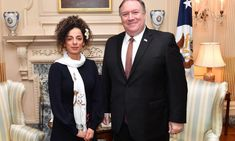 """Masih Alinejad isn't just an Iranian journalist and activist. She's on the U. government payroll and works for the increasingly """"rabidly pro-Trump"""" Voice of America. Iranian American, Iranian Women, Voice Of America, Anti Feminist, Mike Pompeo, Political Prisoners, Old Mother, Don't Speak"""