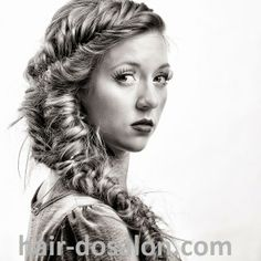 photo shoot - long fishtail braid