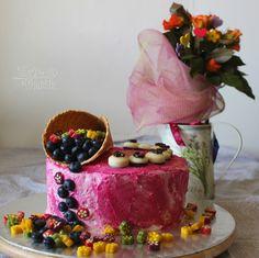 Tvarohovo čučoriedková torta