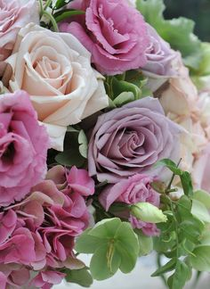 "Roses ~  Purple ~ ""Enchantment""  Pale Peach ~ ""Modesty""  Pink ~ ""Grace'"